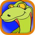 Icona ditamatte dinosuri round 1024